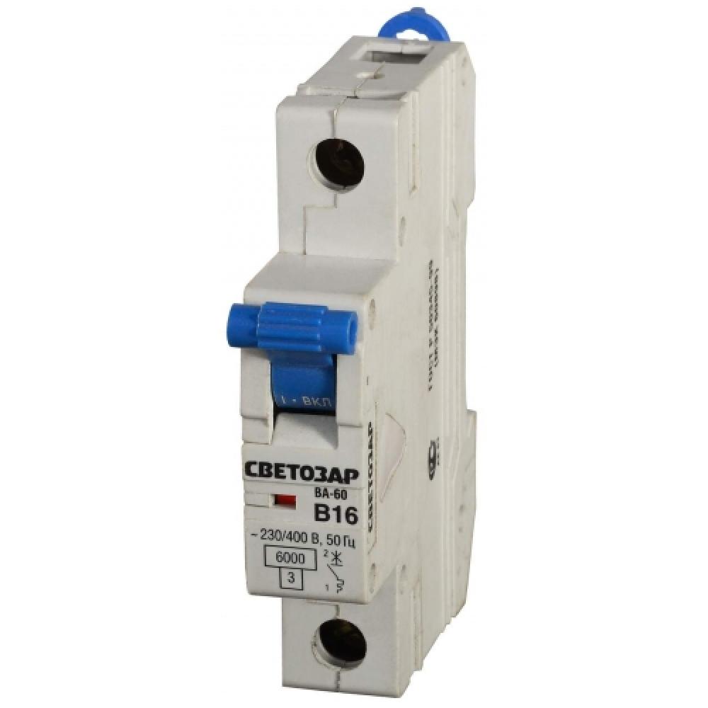 """Автоматический выключатель светозар 1п, 32 a, """"b"""", 6 ка, 230/400 в sv-49051-32-b"""