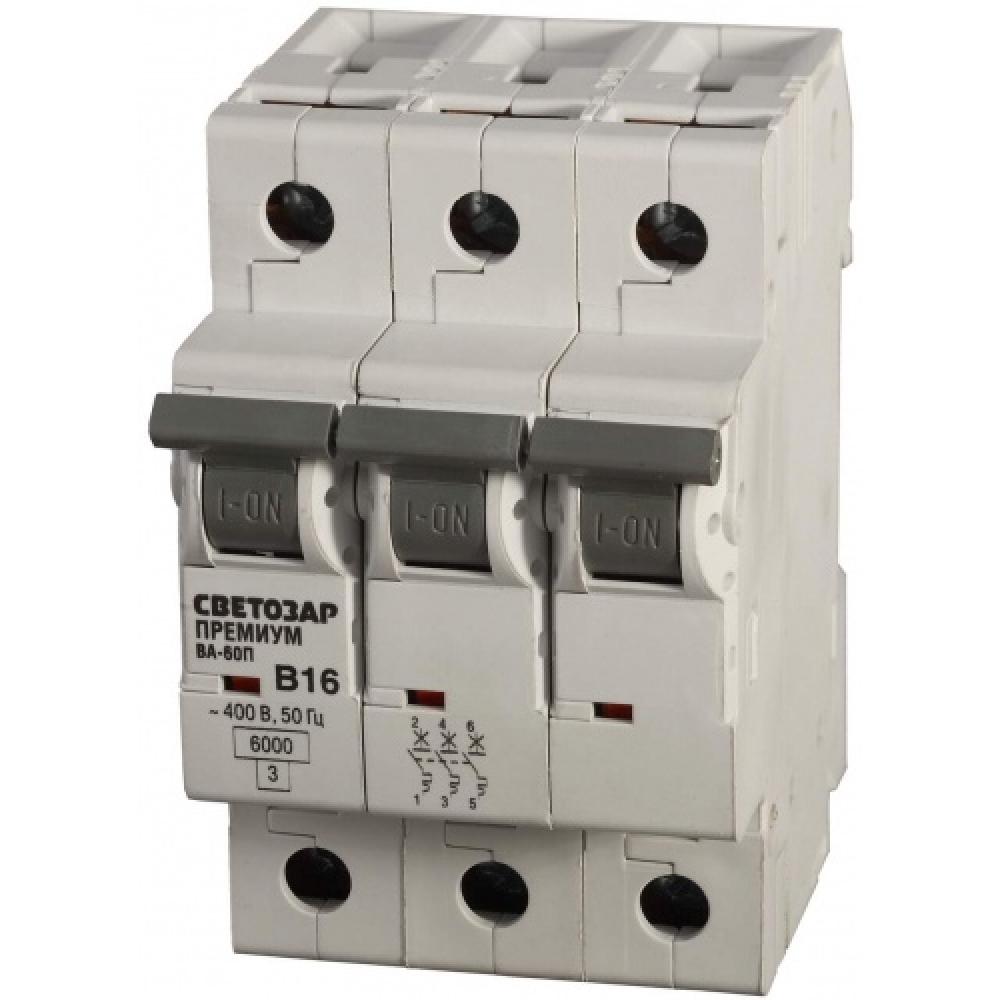 Автоматический выключатель светозар 3п, 50a, c, 10ка, 400в sv-49073-50-cАвтоматические выключатели<br>Вес: 0.35 кг;<br>Тип: модульный ;<br>Номинальный ток: 50 А;<br>Тип расцепления: С ;<br>Вид: автоматический выключатель ;<br>Номинальное напряжение: 400 В;<br>Серия: Мастер ;<br>Количество полюсов: 3 ;