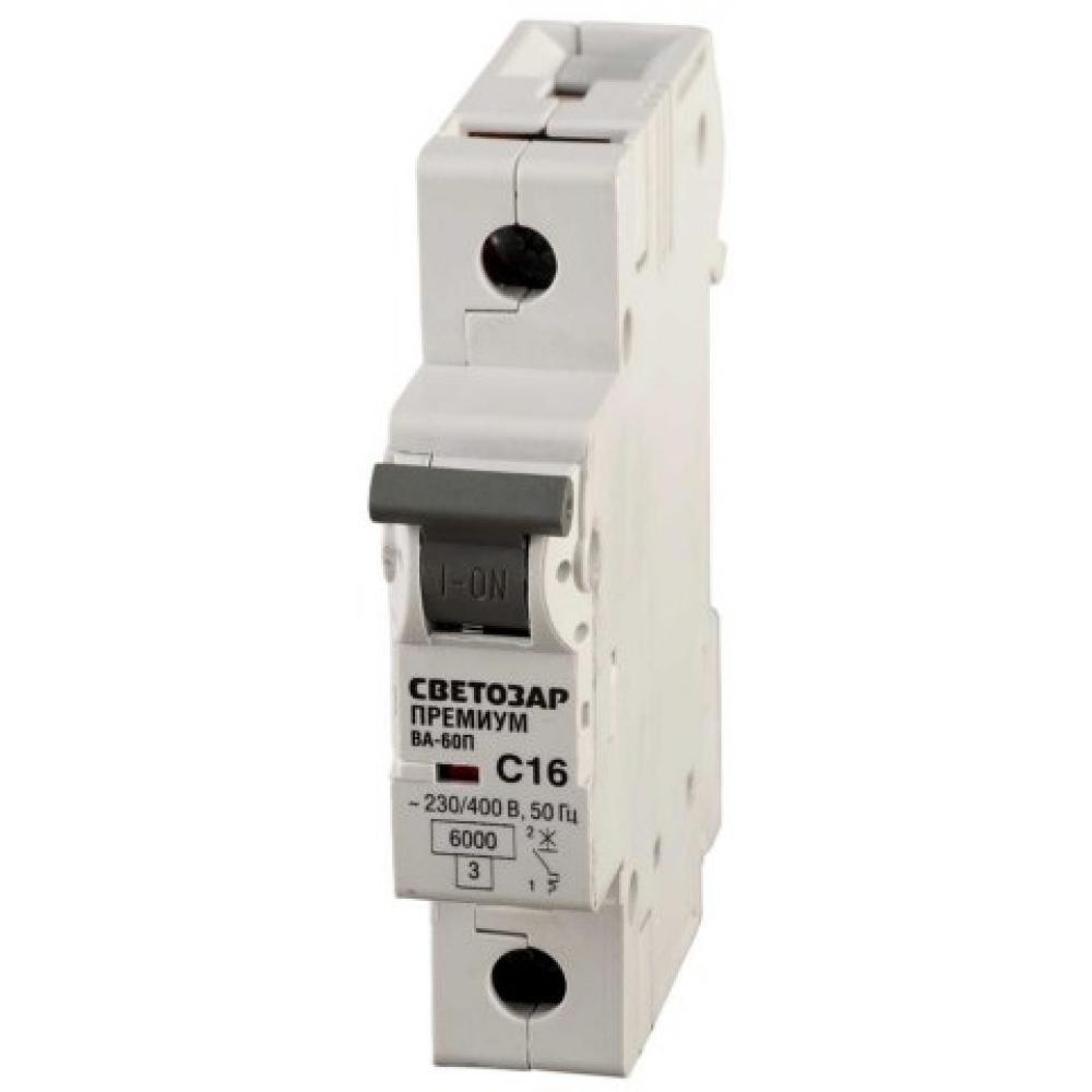 Автоматический выключатель светозар премиум 1п, 63a, c, 6ка, 230/400в sv-49021-63-cАвтоматические выключатели<br>Вес: 0.1 кг;<br>Тип: модульный ;<br>Номинальный ток: 63 А;<br>Тип расцепления: С ;<br>Вид: автоматический выключатель ;<br>Номинальное напряжение: 230/400 В;<br>Серия: Премиум ;<br>Количество полюсов: 1 ;