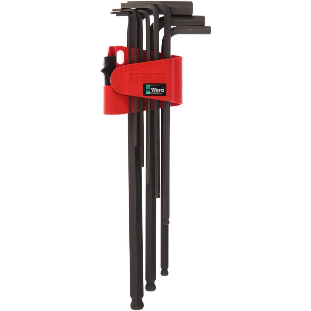Набор г-образных ключей с шариком wera we-022086