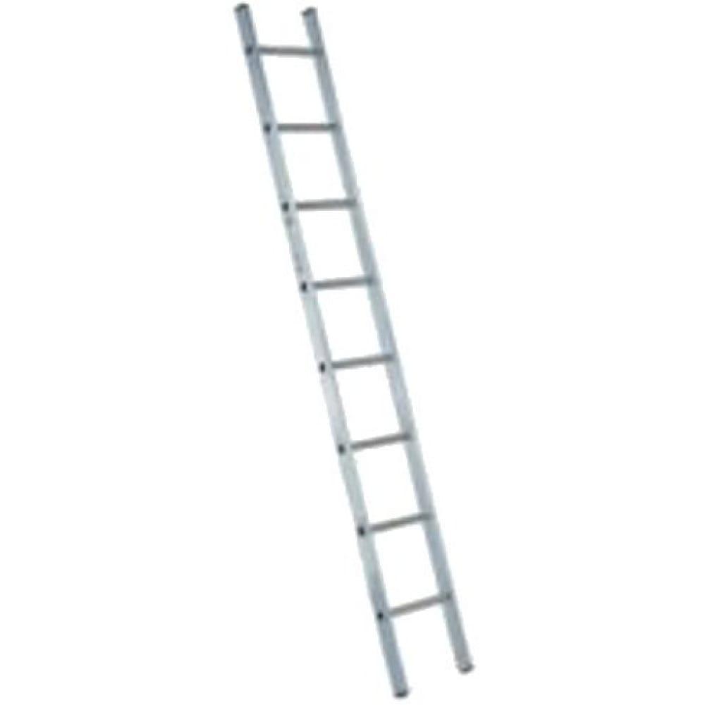 Односекционная алюминиевая лестница алюмет н1 5107приставные лестницы<br>Количество ступеней: 7 шт.; <br>Рабочая высота: 2.95 м; <br>Материал: алюминий  ; <br>Вес: 2.5 кг;