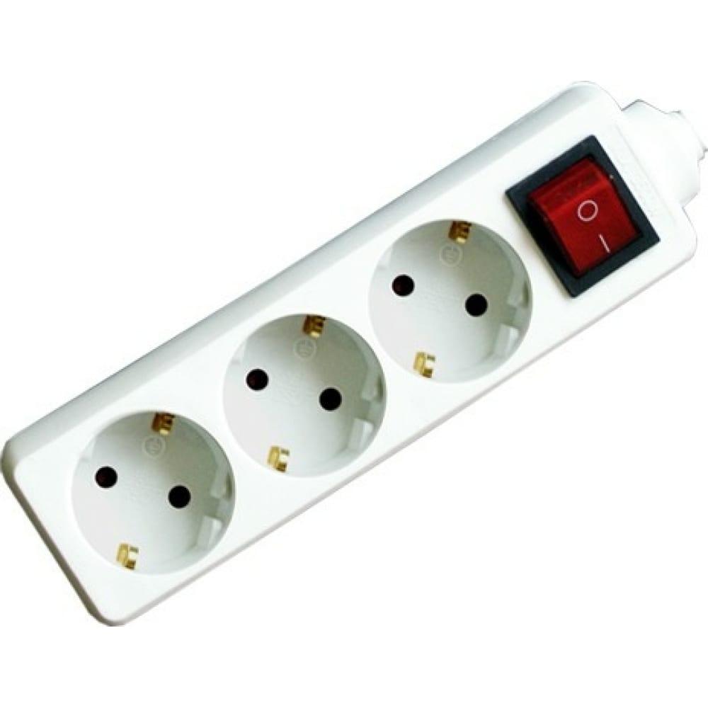 Бытовой удлинитель с выключателем volsten s 3x1,5-zdv, 9327