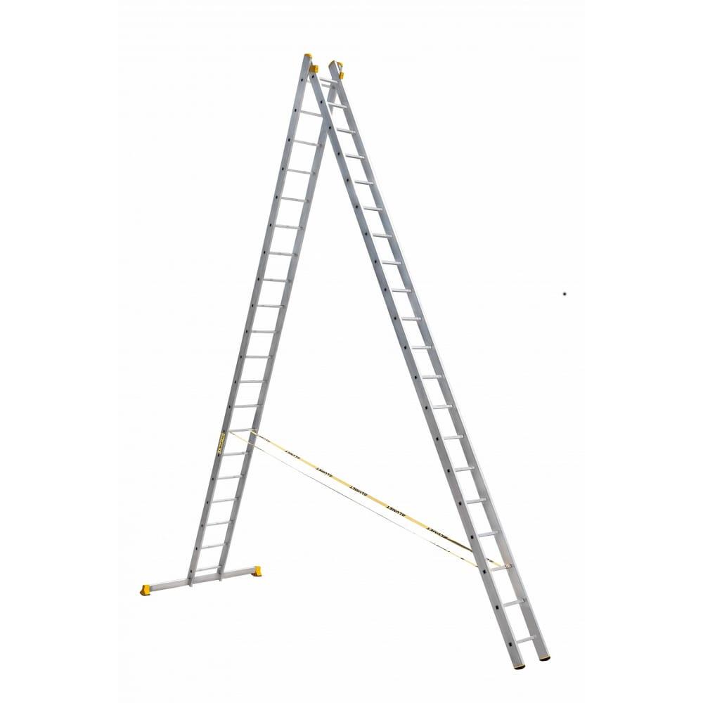 Купить Двухсекционная алюминиевая лестница алюмет серия р2 9220