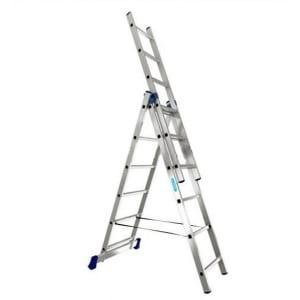 Купить Трехсекционная универсальная алюминиевая лестница алюмет серия h3 5308