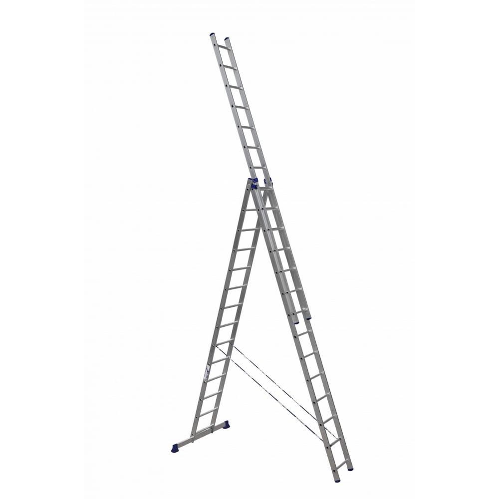 Купить Трехсекционная универсальная алюминиевая лестница алюмет серия hs3 6314
