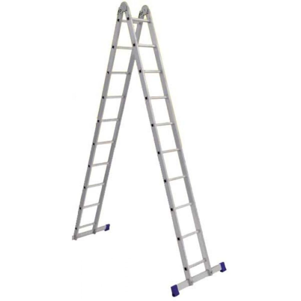 Алюминиевая профессиональная двухсекционная шарнирная лестница алюмет серия т2 т 208двухсекционные лестницы<br>Вес: 10.8 кг;<br>Материал: алюминий  ;<br>Общая длина: 4.54 м;<br>Рабочая высота: 5.48 м;<br>Тип: трансформер ;<br>Высота площадки: 2.34 м;<br>Max рабочая нагрузка: 150 кг;<br>Количество ступеней: 2х8 шт.;<br>Стремянка: нет ;