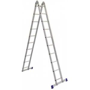 Купить Алюминиевая профессиональная двухсекционная шарнирная лестница алюмет серия т2 т 208