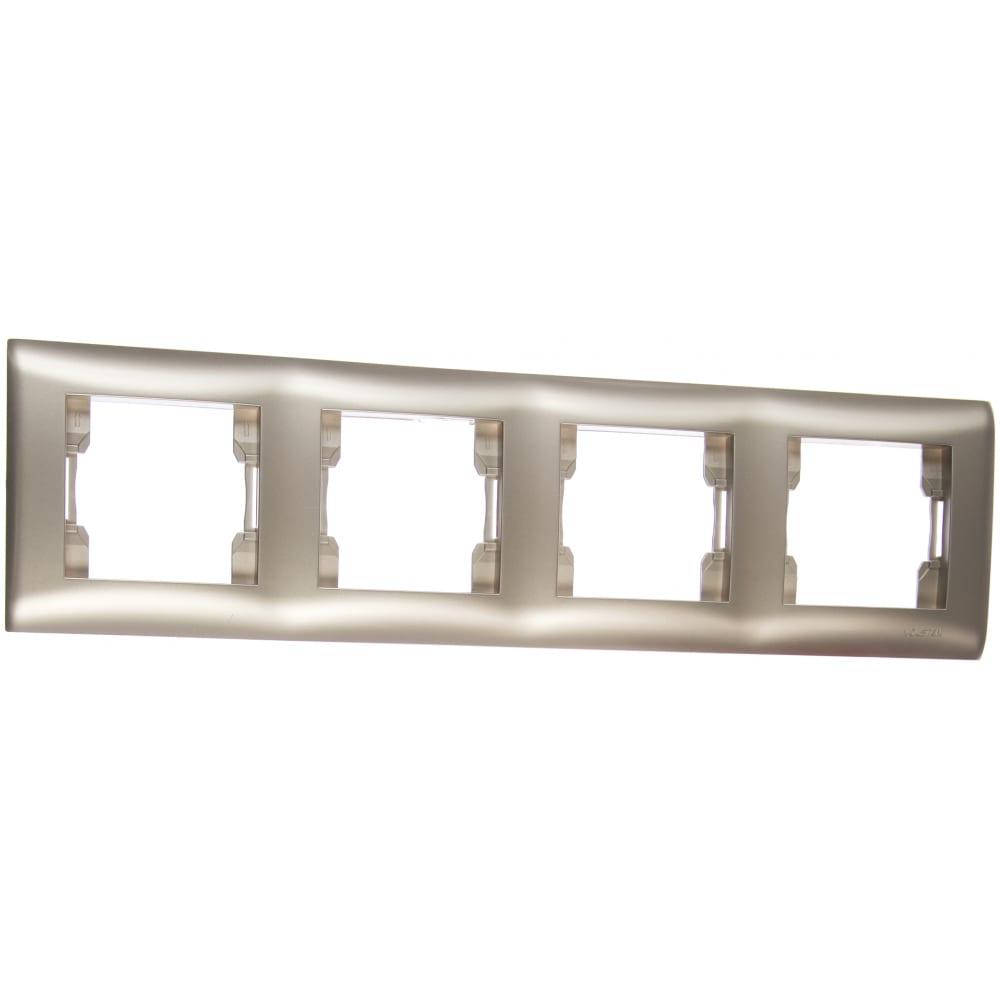 Четырехместная рамка volsten v01-15-a41-m magenta argento, 10012