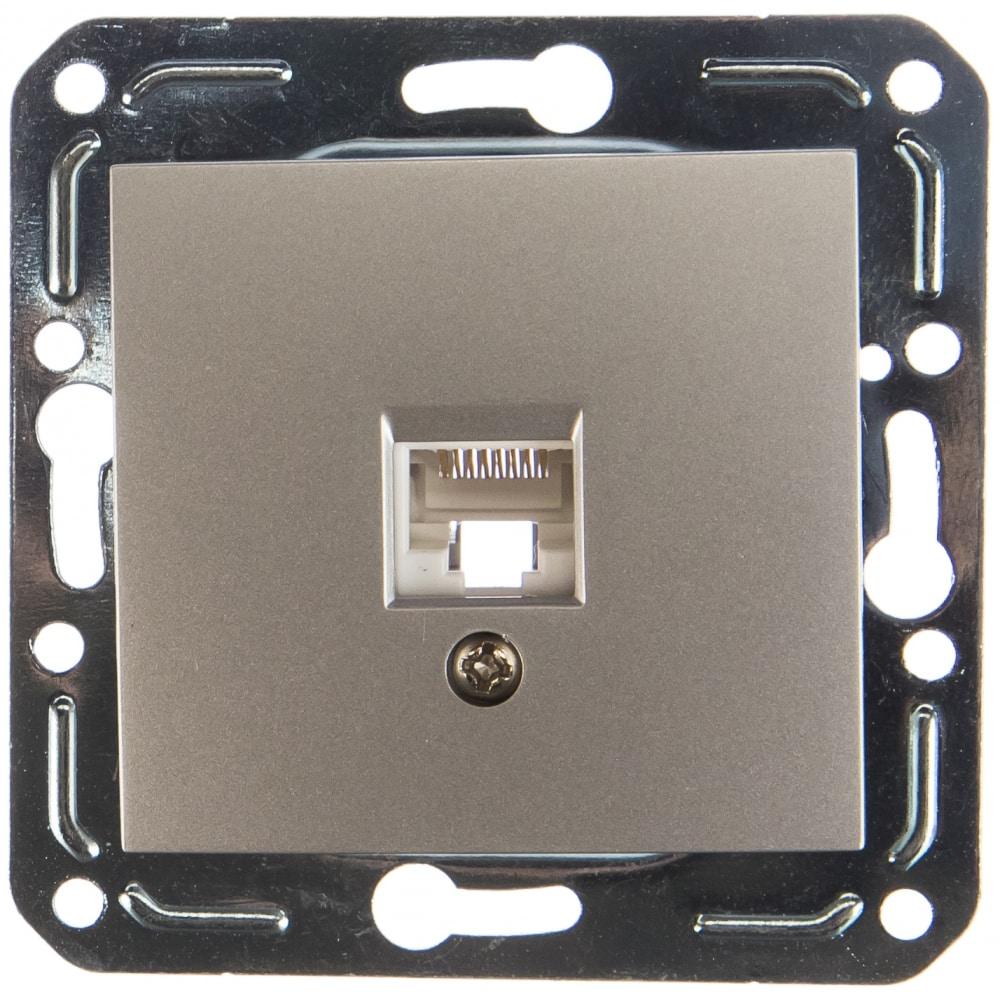Розетка компьютерная rj45 volsten v01-15-c11-m magenta argento 10013