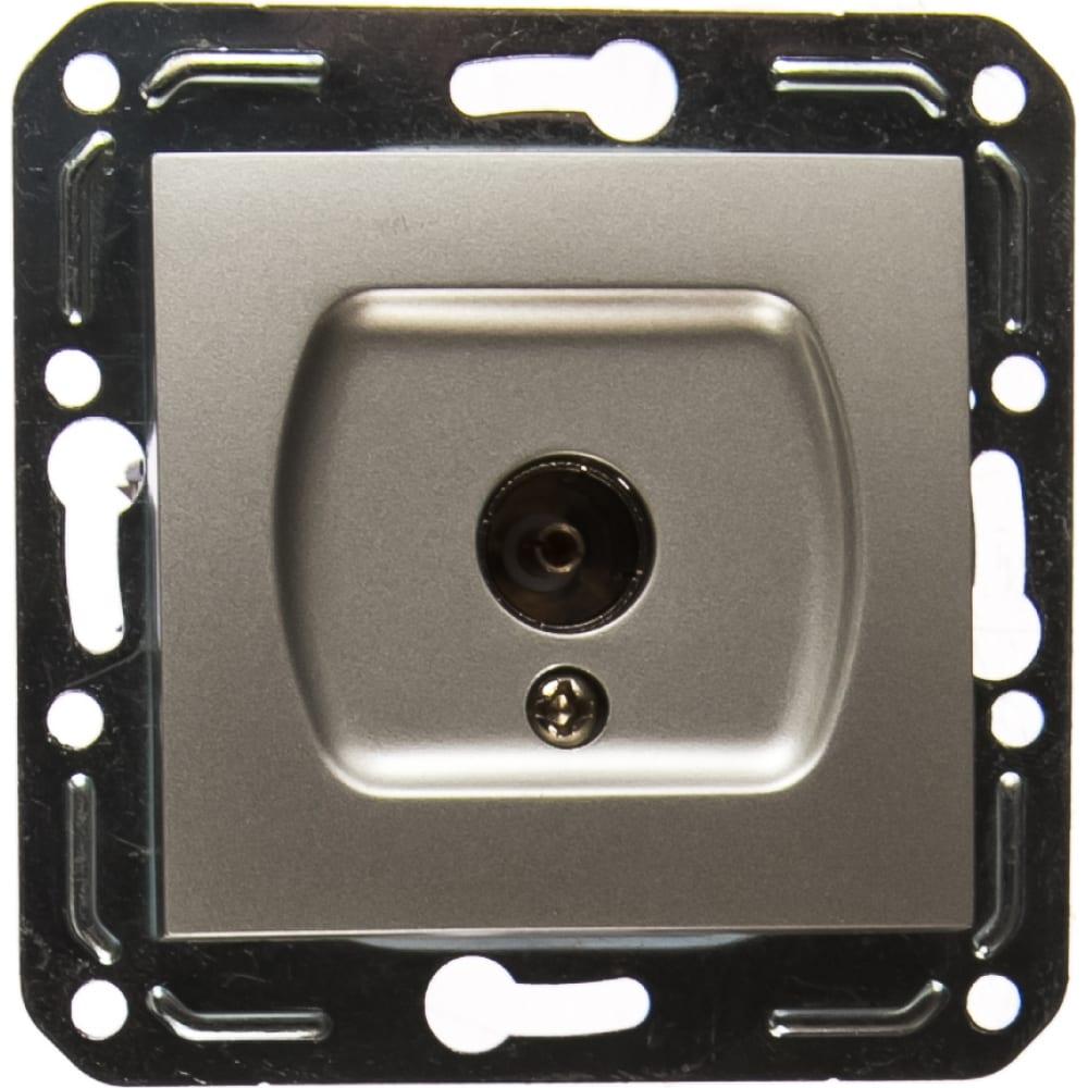 Розетка tv volsten v01-15-t11-m magenta argento 10025
