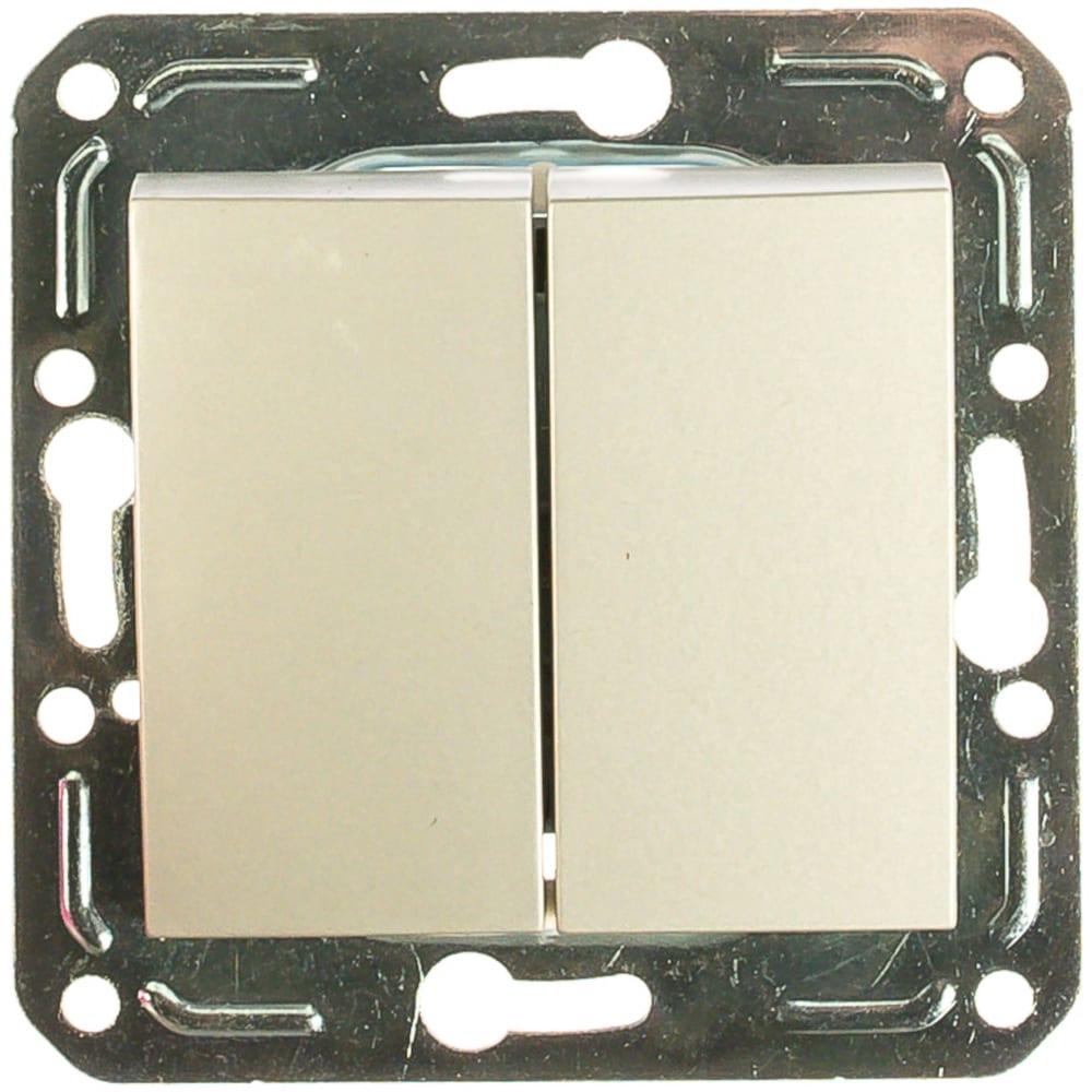 Двухклавишный выключатель volsten v01-15-v21-m  magenta argento, 10028