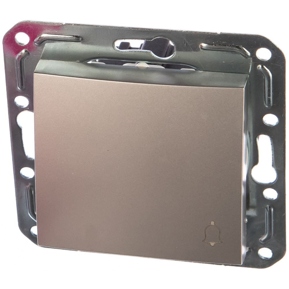 Кнопочный выключатель volsten v01-15-z11-m  magenta argento, 10030