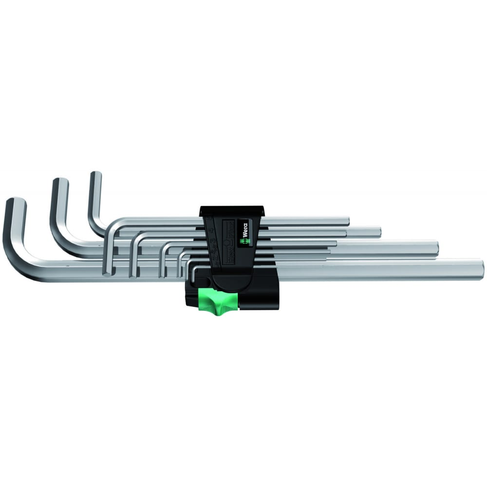 Набор г-образных ключей 950 l/9 sm n clip 9tlg / 9 pcs wera we-021909
