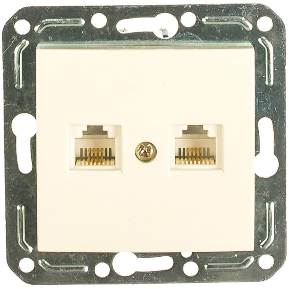 Двухместная телефонная розетка volsten v01-21-f22-m rj -11 violet, 9127  - купить со скидкой