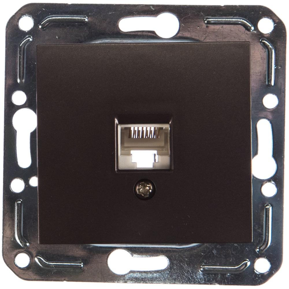 Розетка компьютерная rj45 volsten v01-14-c11-m magenta nero 9991