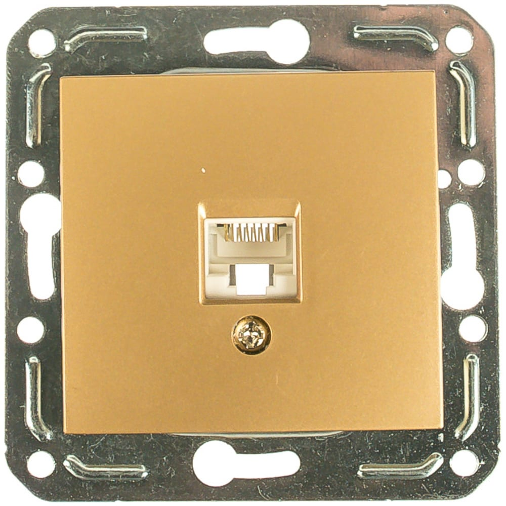 Розетка компьютерная rj45 volsten v01-16-c11-m magenta dorado 10035
