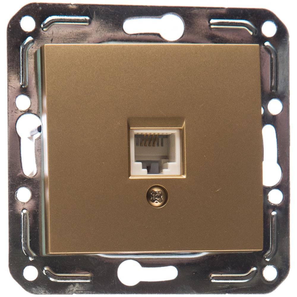 Розетка volsten v01-16-f12-m rj-11 magenta dorado 10037
