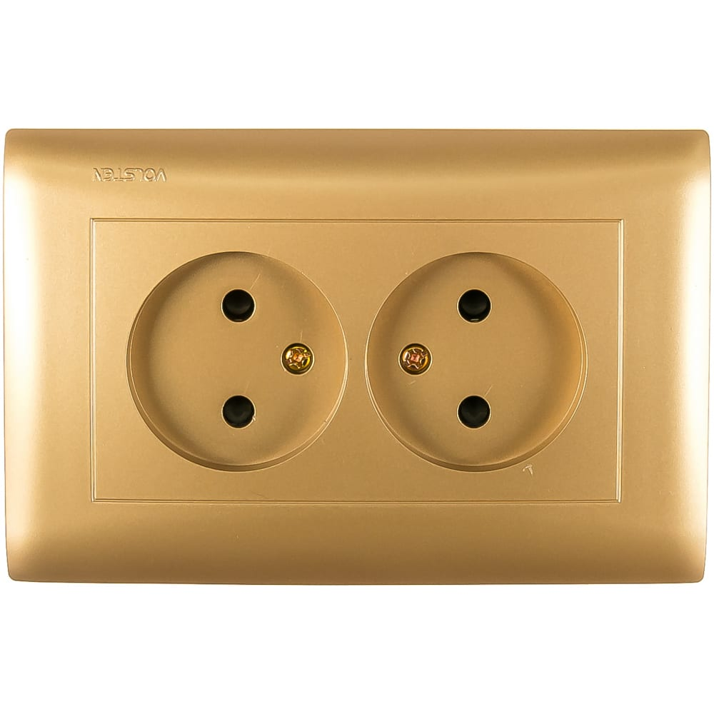 Розетка двухместная volsten v01-16-r22-s magenta dorado 10045