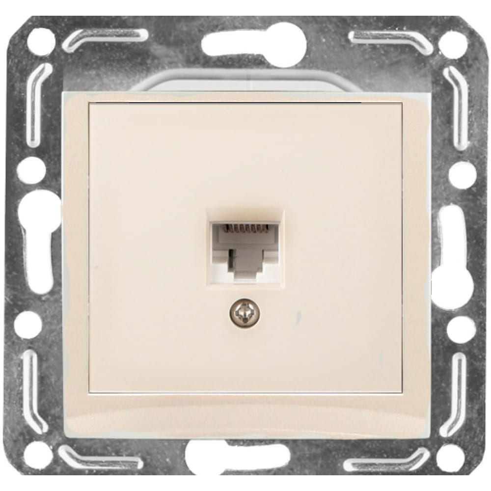 Розетка компьютерная rj45 volsten v01-12-c11-m magenta crema 9059