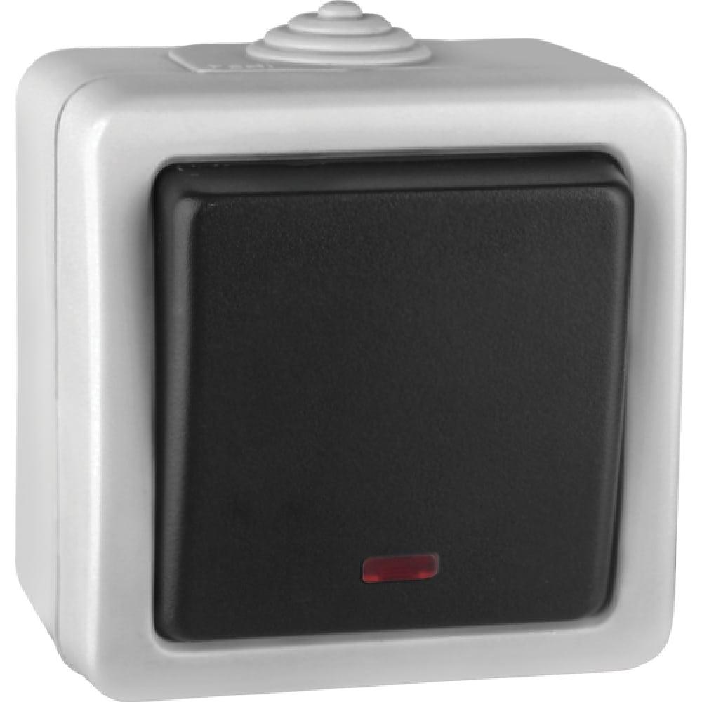 Проходной выключатель volsten marin grey с индикатором v01-43-p12-s 9446