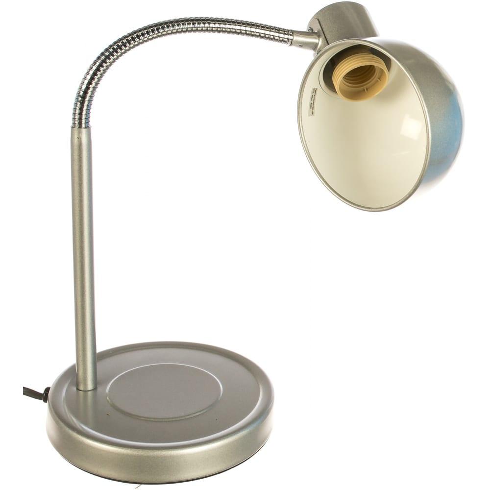 Настольный светильник, серебро camelion kd-306, 10501