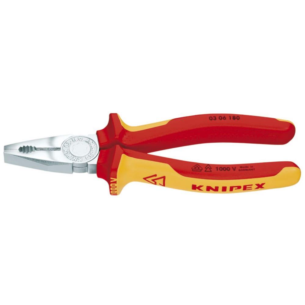 Диэлектрические пассатижи knipex kn-0306200sb