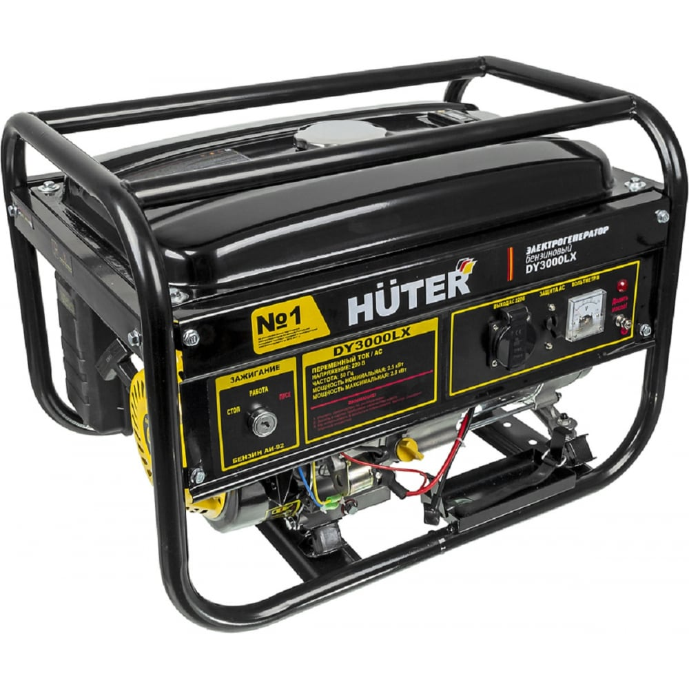 Купить Бензиновый электрогенератор huter dy3000lx с электростартером