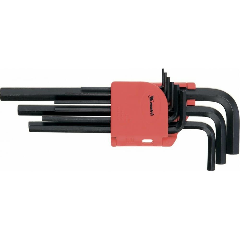 Набор имбусовых удлиненных ключей 1,5-10 мм 9 шт matrix 11231