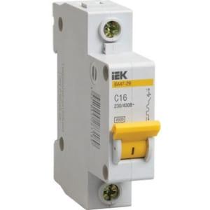Фото. Автоматический выключатель iek ва47-29 1п 16а с 45ка mva20-1-016-c