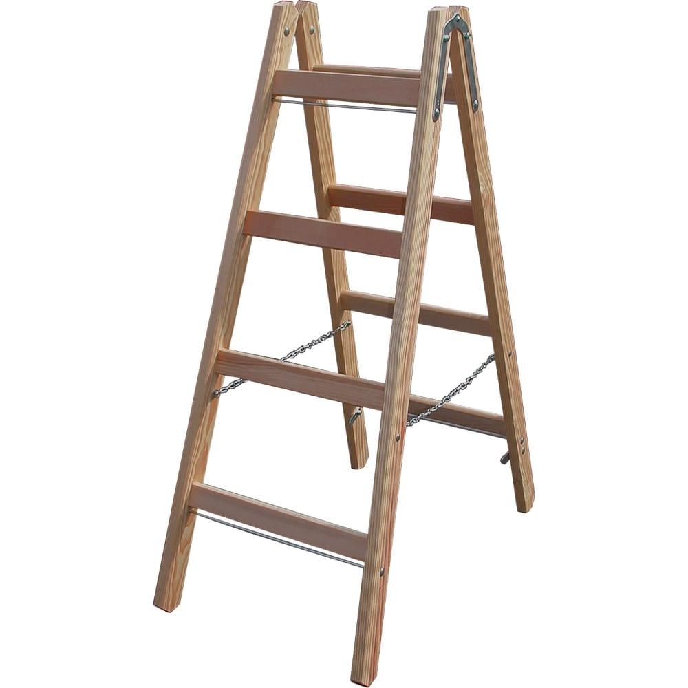 Двусторонняя лестница из дерева krause 170064