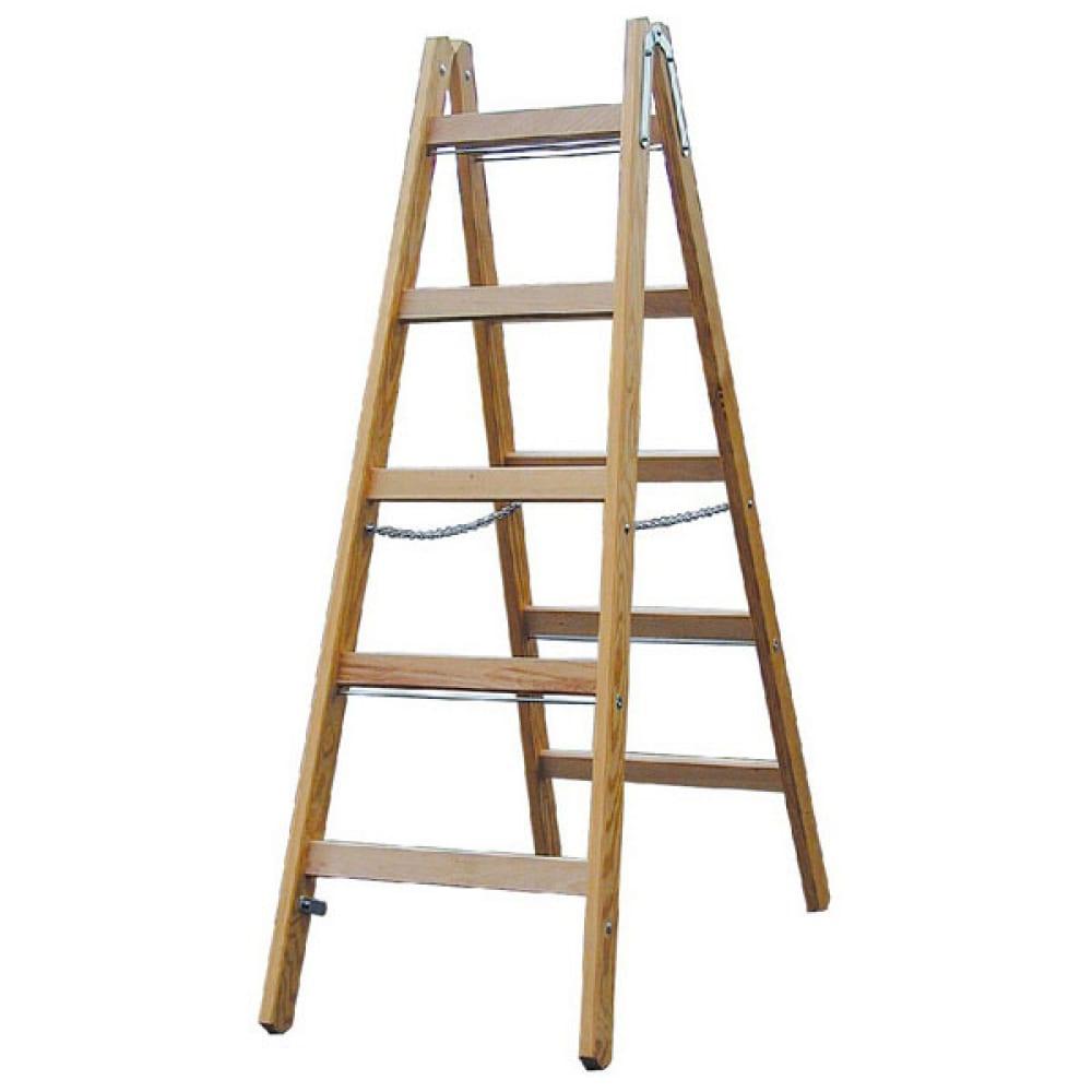 Двусторонняя лестница из дерева krause 170071