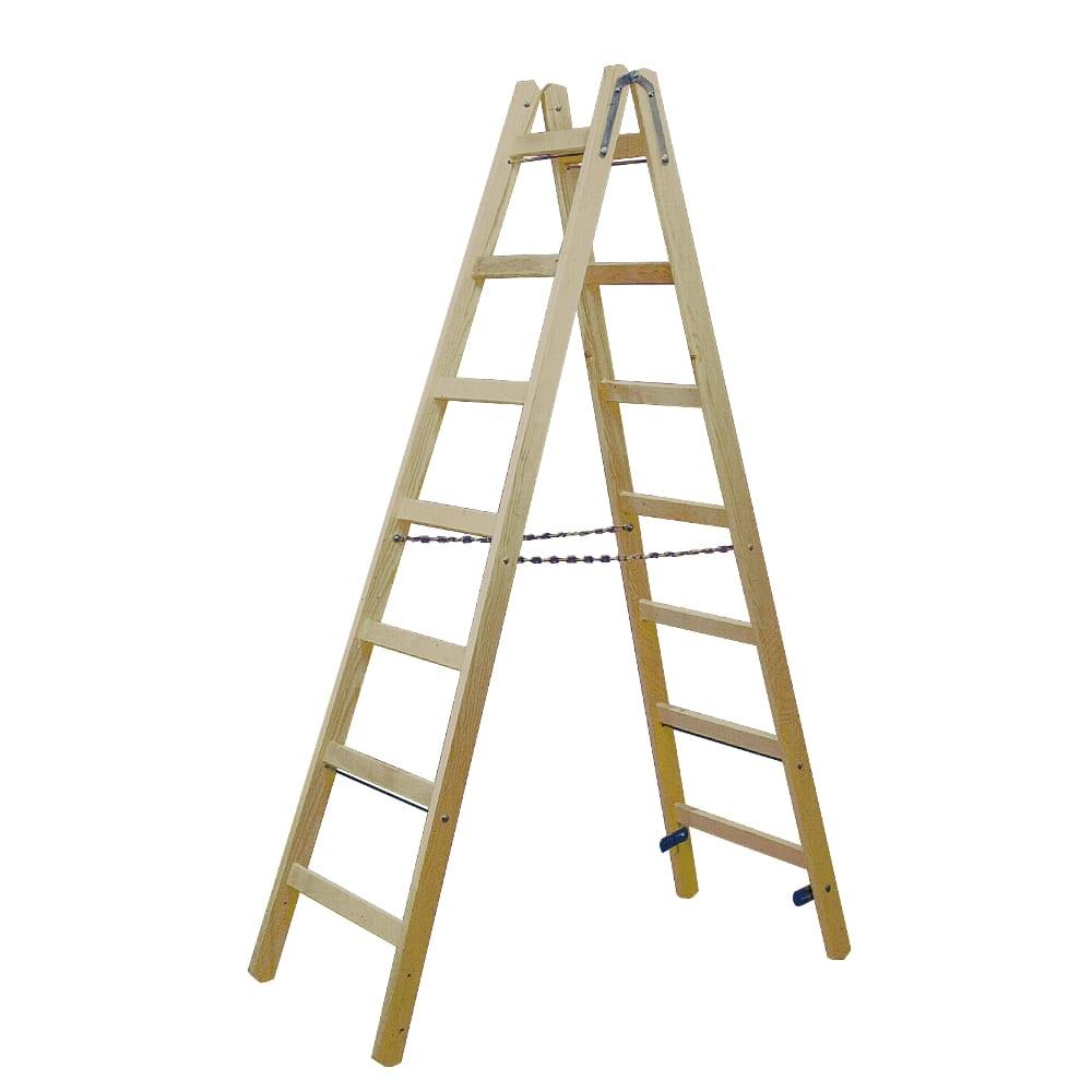 Двусторонняя лестница из дерева krause 170095