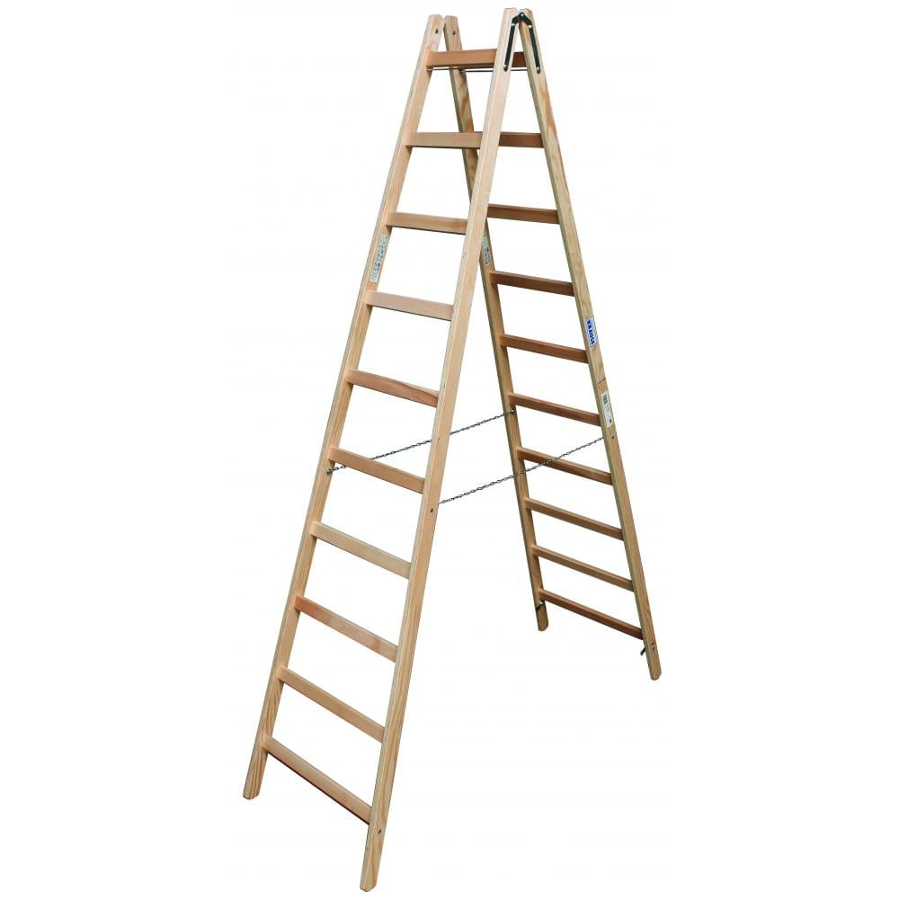 Двусторонняя лестница из дерева krause 170125