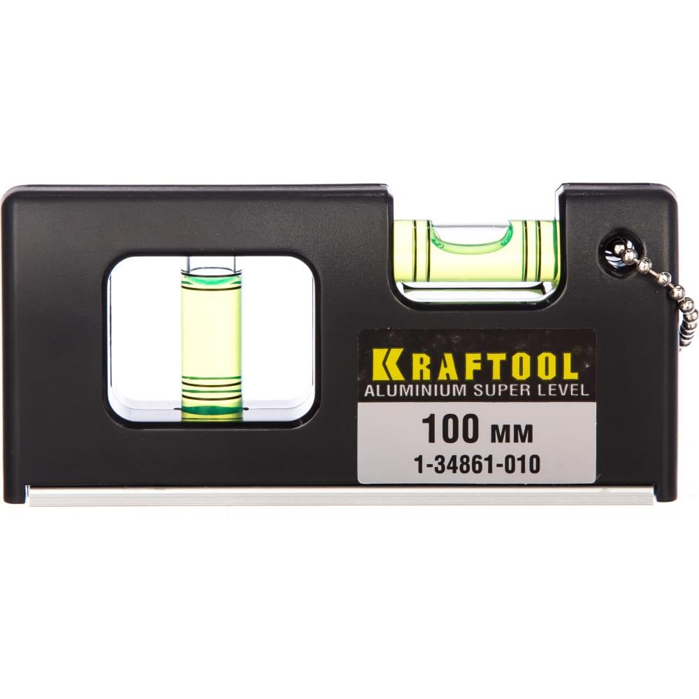Уровень с магнитом 100 мм kraftool мини 1-34861-010  - купить со скидкой
