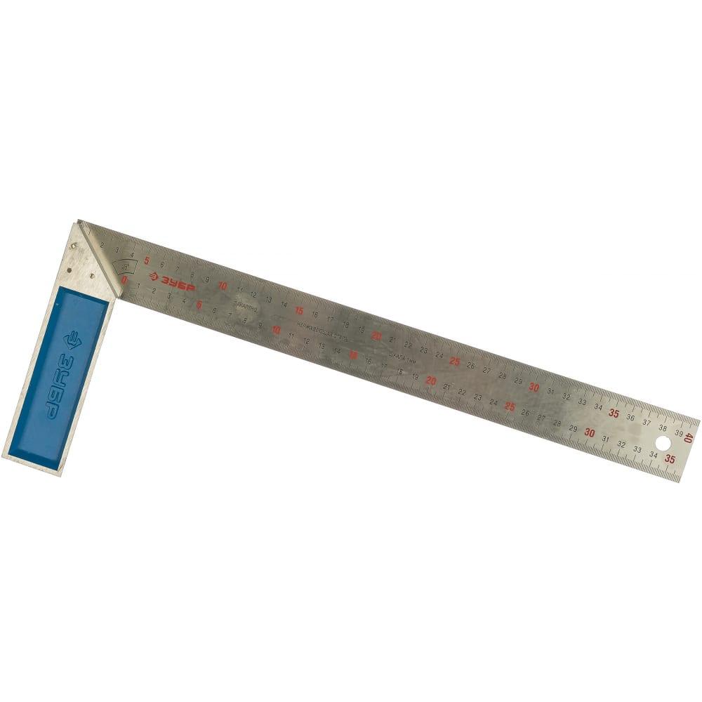 Столярный угольник 400 мм зубр эксперт 34393-40