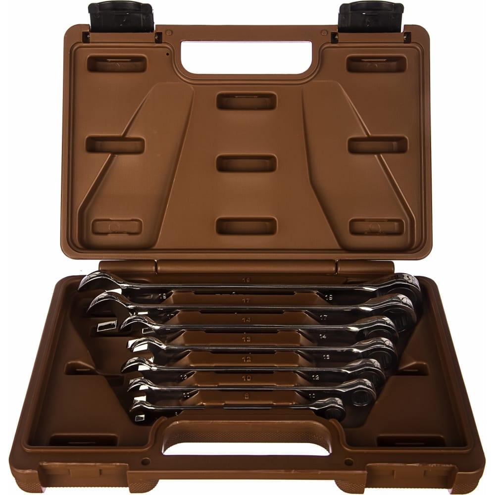 Набор комбинированных трещоточных ключей 7 шт ombra snap gear 935007