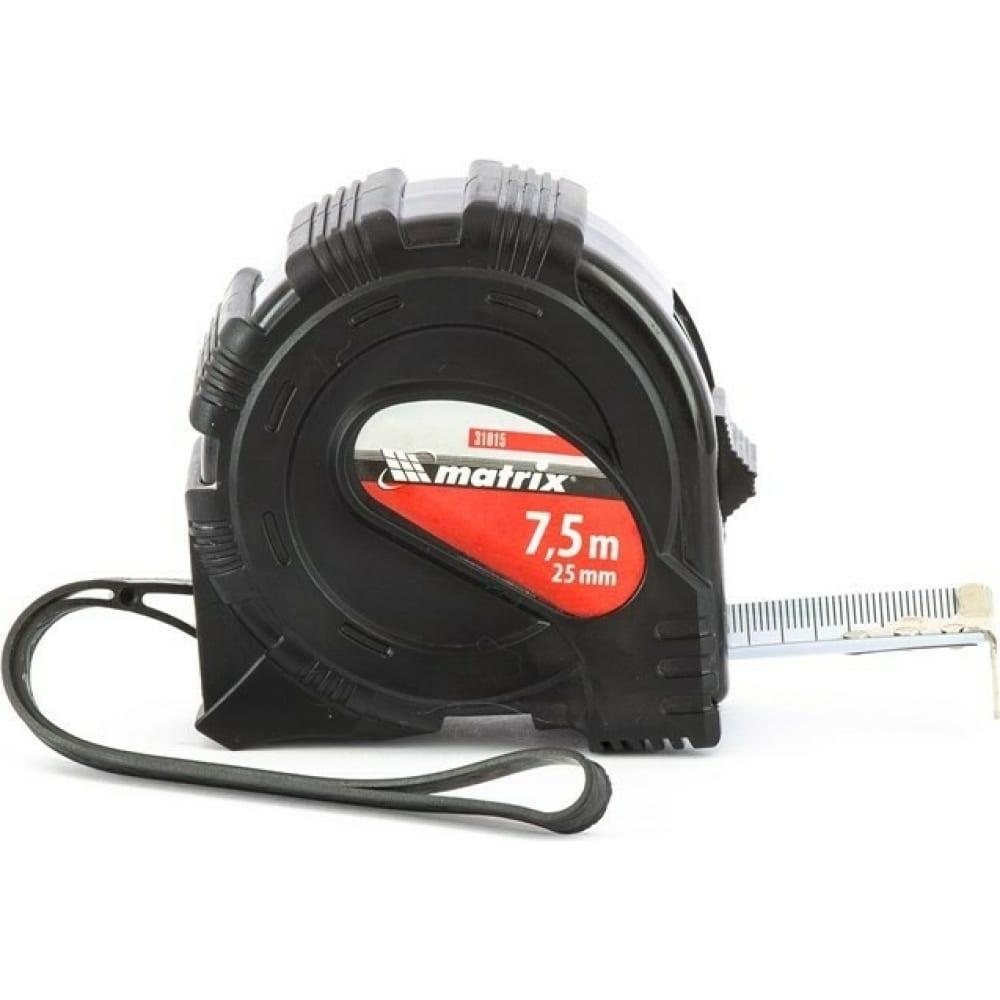 Рулетка black 7,5 м х 25 мм matrix 31015