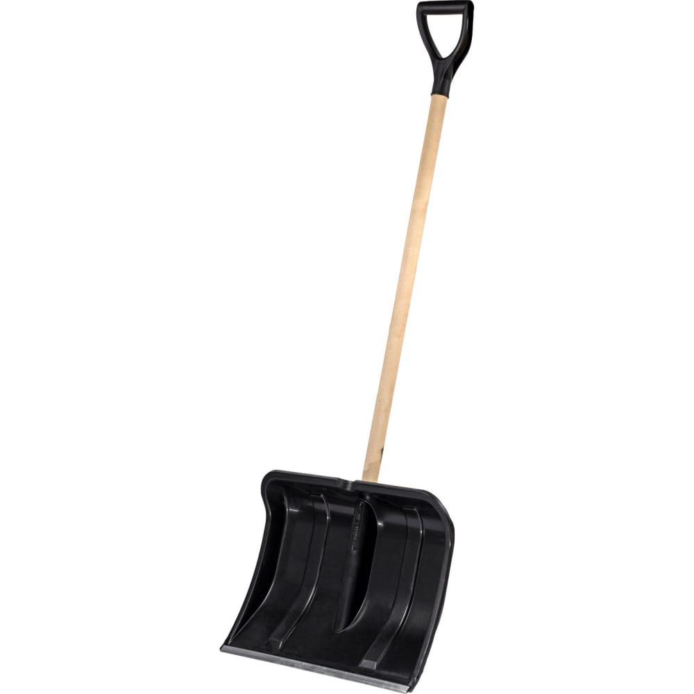 Купить Снеговая лопата с деревянным черенком и v-ручкой cicle богатырь 4607156361199