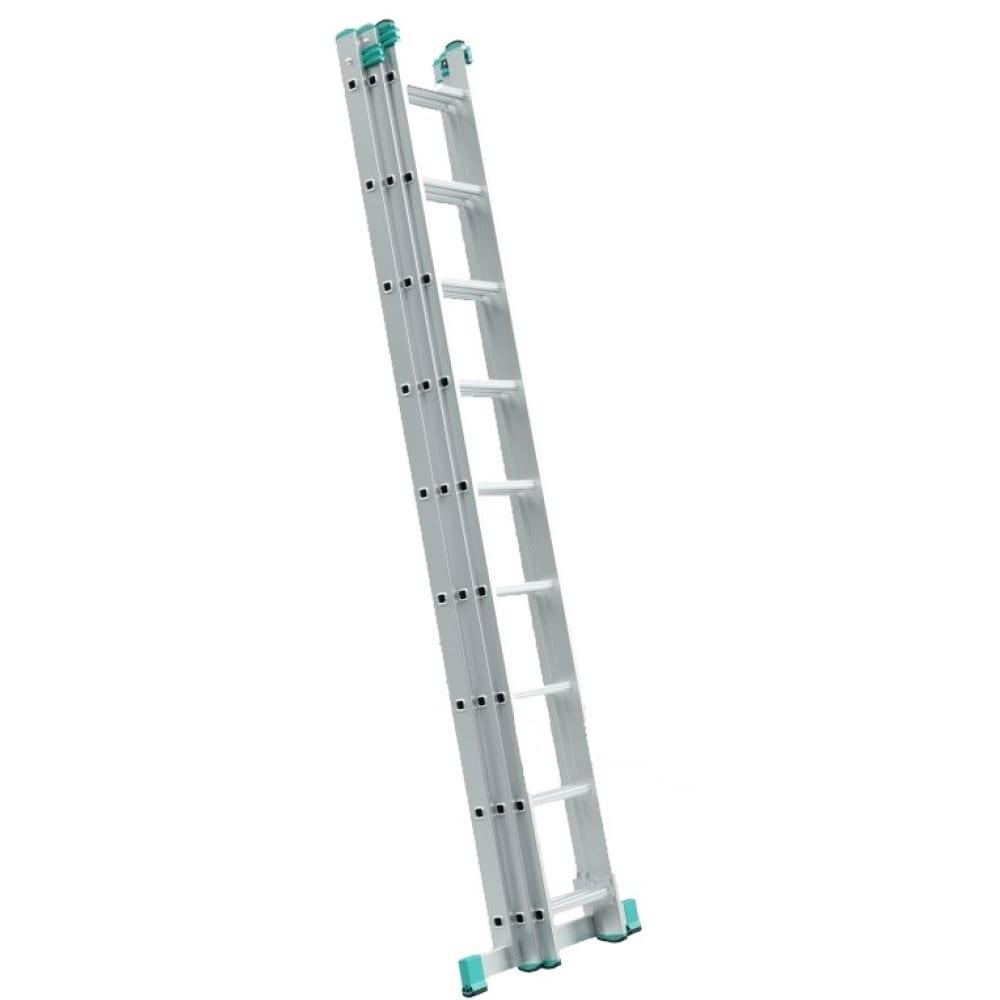 Универсальная трехсекционная лестница alve 7614