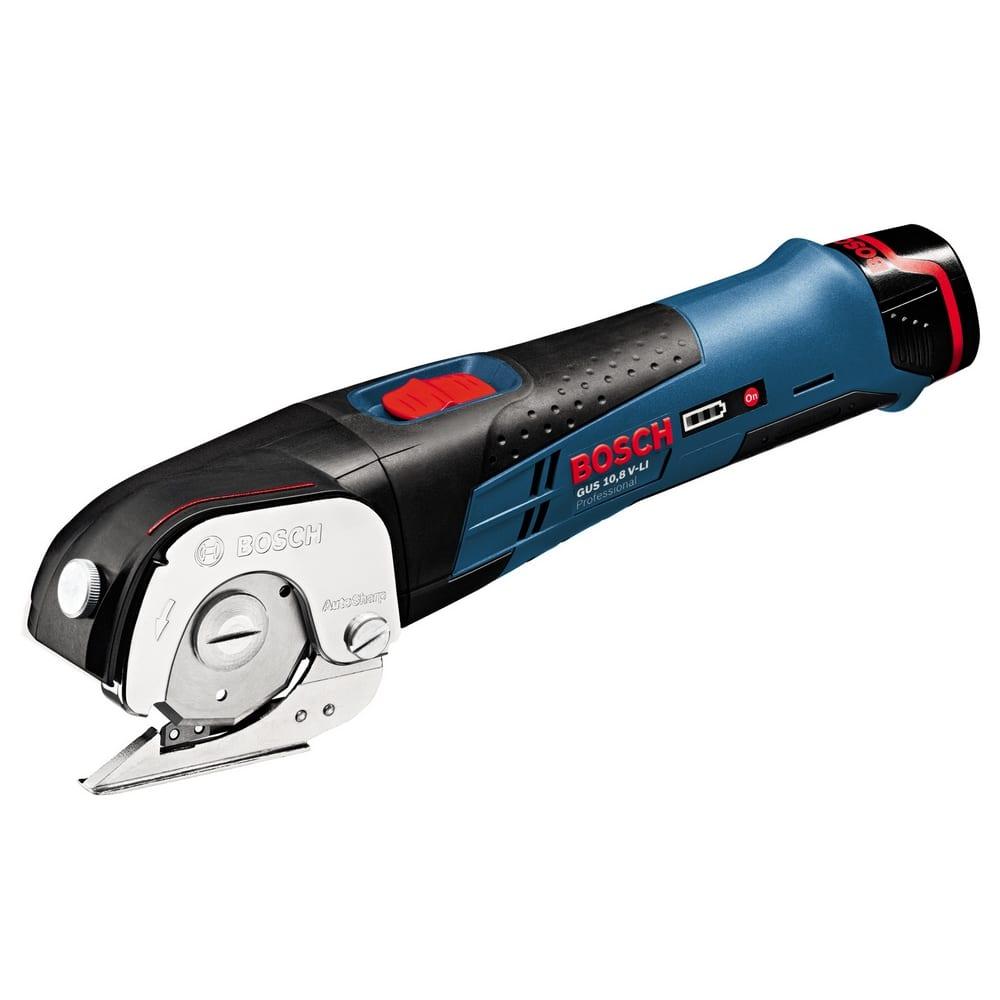 Аккумуляторные универсальные ножницы bosch gus 10,8 v-li 0.601.9b2.904