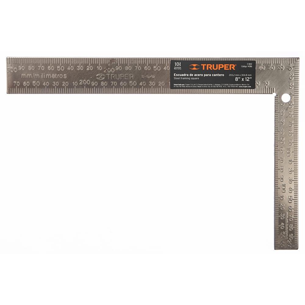 Измерительный угольник truper e-8x12 14386