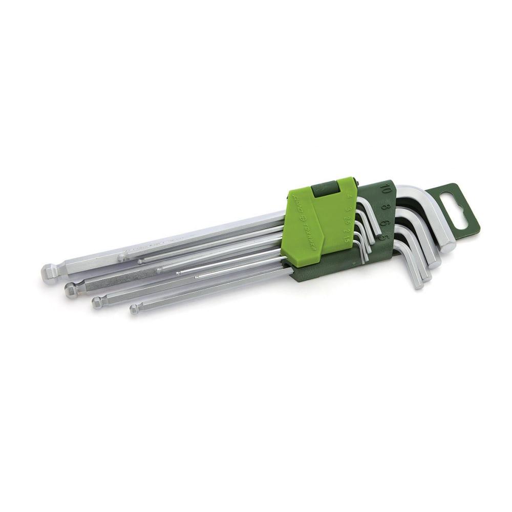 Купить Набор шестигранных длинных ключей с шаром 9 шт дт/40 дело техники 562092
