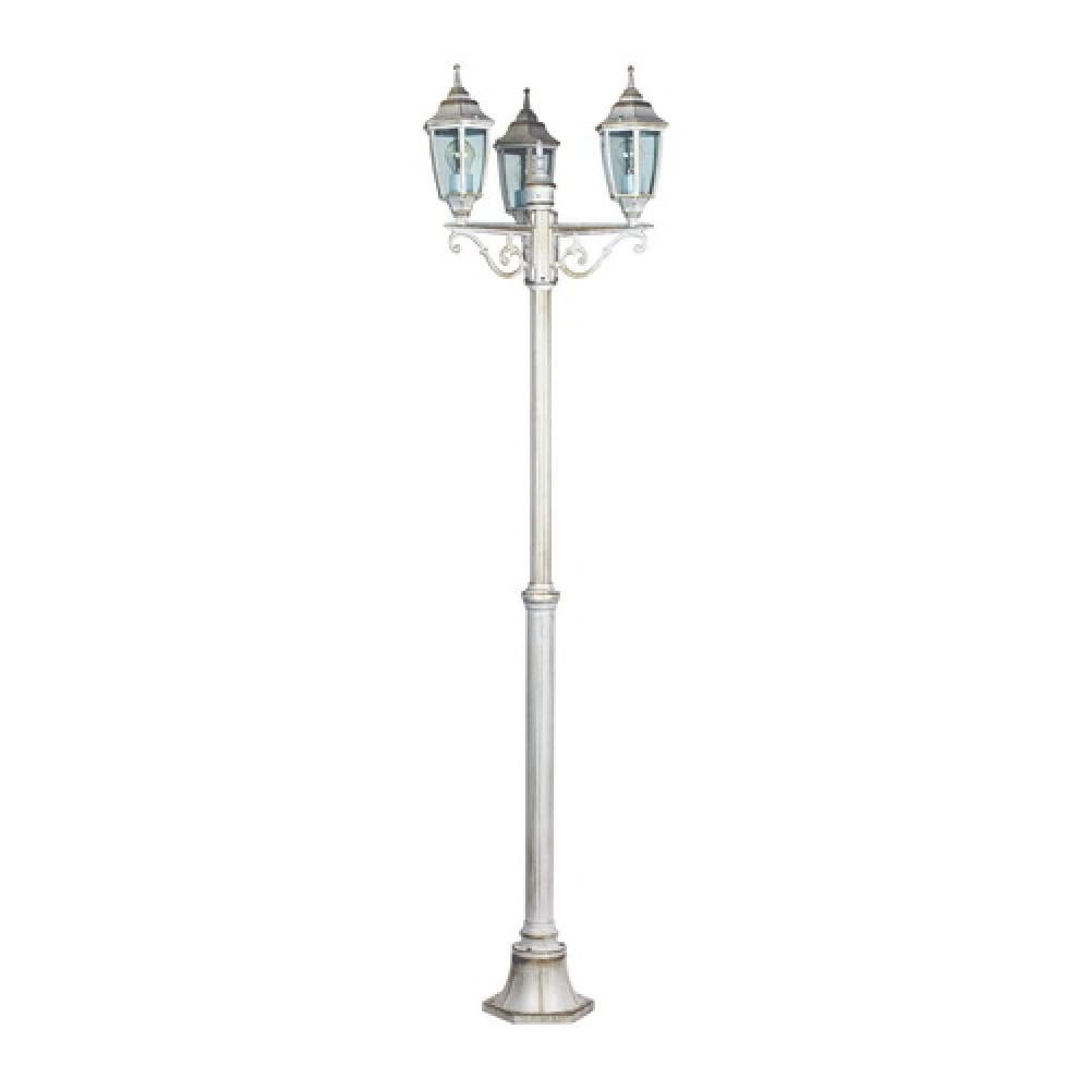 Уличный светильник столб sheffield duwi 25731 8, 226см, белое золото