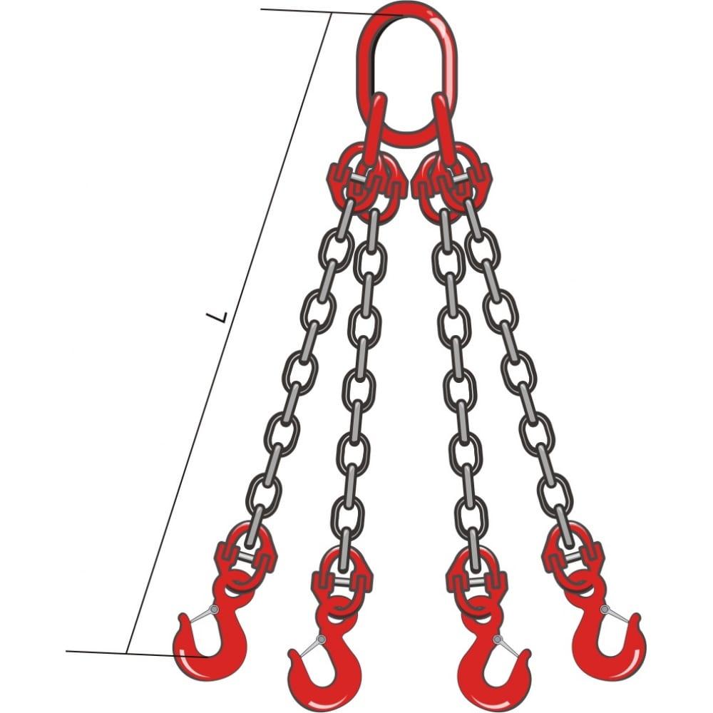 Четырехветвевой цепной строп кантаплюс ц4сц-3.15/2.0мЧетырехветвевые стропы 4СЦ<br>Вес: 11.96 кг;<br>Длина: 2 м;<br>Грузоподъемность: 3.15 т;<br>Размер звена: 21 мм;<br>Класс товара: Бытовой ;<br>Тип: с крюками ;