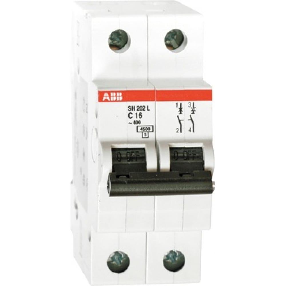 Автоматический модульный выключатель abb 2п c sh202l 4.5ка 10а 2cds242001r0104Автоматические выключатели<br>Вес: 0.475 кг;<br>Тип: модульный ;<br>Номинальный ток: 10 А;<br>Отключающая способность: 4.5 кА;<br>Тип расцепления: С ;<br>Вид: автоматический выключатель ;<br>Номинальное напряжение: 400 В;<br>Серия: SH200L ;<br>Количество полюсов: 2 ;