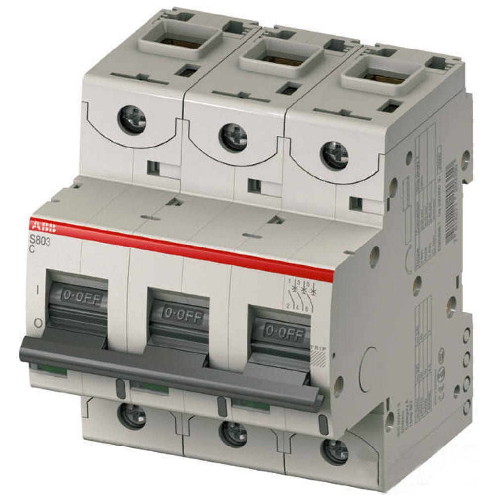 Картинка для Автоматический модульный выключатель abb 3п с s803c 25ка 80а 2ccs883001r0804