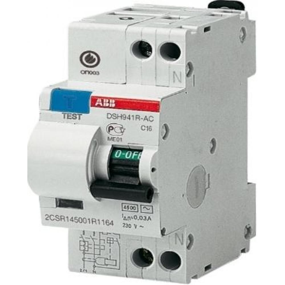 Автоматический выключатель дифференциального тока abb 1п+n c 30ma тип ac 4.5ka dsh941r 10a 2csr145001r1104