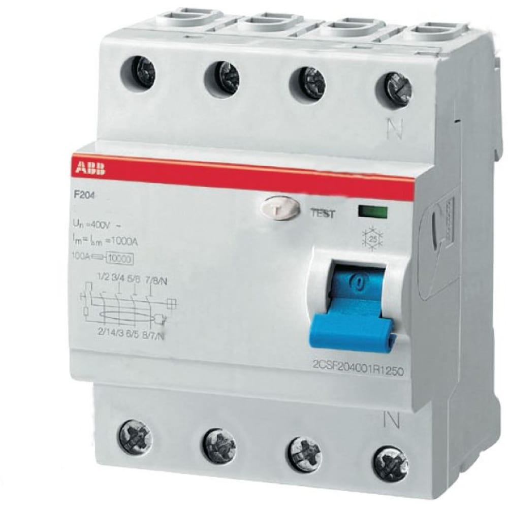 Купить Выключатель дифференциального тока abb 2csf204001r1250 f204 4п ac 25a 30ma