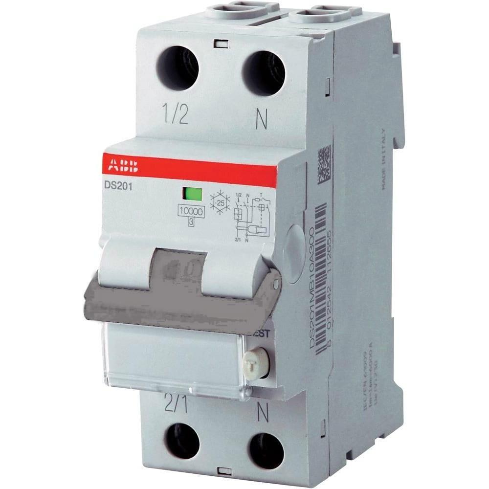 Купить Автоматический выключатель дифференциального тока abb 1п+n c тип a 6ka ds201 16a 30ma 2csr255140r1164