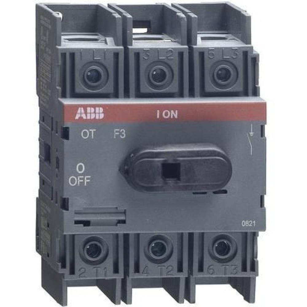 Рубильник abb 3п ot63 f3 63a 1sca105332r1001
